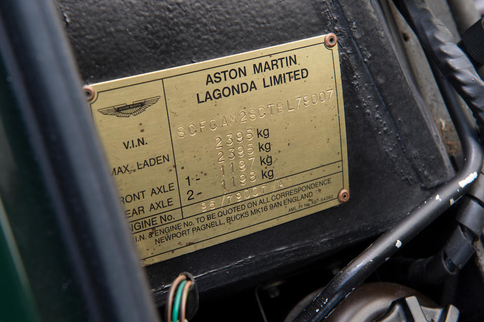 1996 Aston Martin V8 Sportsman Estate Car  Chassis no. SCFCAM2SCTBL79007