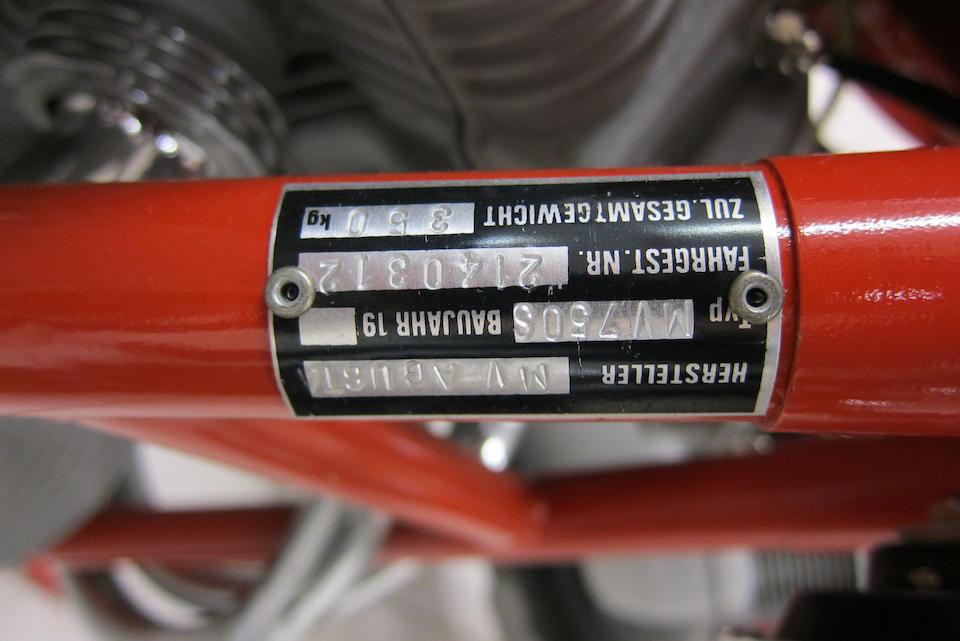 1973 MV Agusta 750S Frame no. MV750S 2140312 Engine no. 199-062