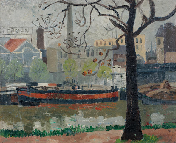 Christopher Wood (British, 1901-1930) The Seine 50.8 x 62.8 cm. (20 x 24 3/4 in.) Painted in 1927