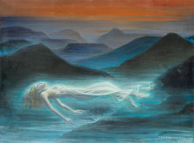 Vladimir Griegorovich Tretchikoff (South African, 1913-2006) The Dream