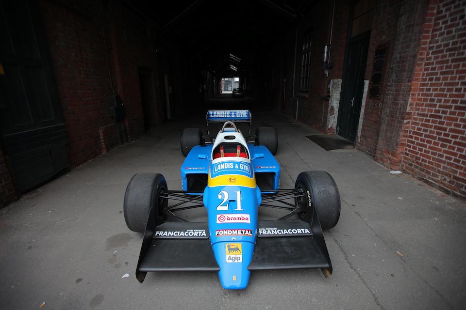 The Ex-Piercarlo Ghinzani,1986  OSELLA-ALFA ROMEO  FA1G FORMULA 1 RACING SINGLE-SEATER  Chassis no. 01