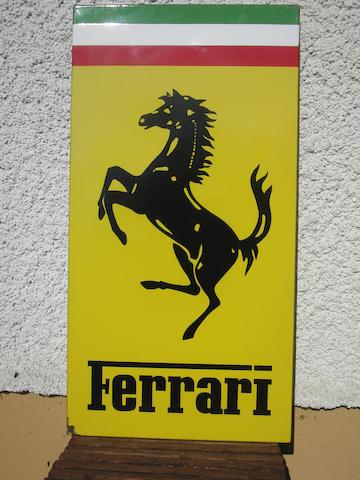 Ferrari sign W43cm H83cm, ca. 1980