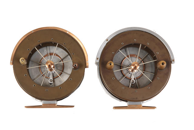 Two similar improved Coxon Aerial style 4½in reels (2)