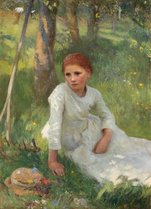 Sir George Clausen, RA, RWS (British, 1852-1944) Noon in the Hayfield