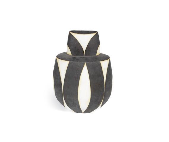 John Ward (British, 1938-) A Geometric Pattern Vase; circa 1990