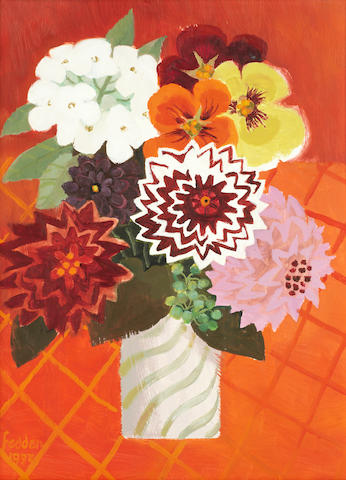 Mary Fedden R.A. (British, 1915-2012) 'Nell's Flowers'