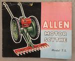 A 1960s Allen Oxford Motor Scythe,  ((Qty))