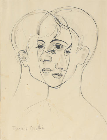 FRANCIS PICABIA (1879-1953) Sans titre (Transparence) (Executed circa 1930 - 1931)