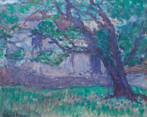 Robert Bevan (British, 1865-1925) Leaning tree