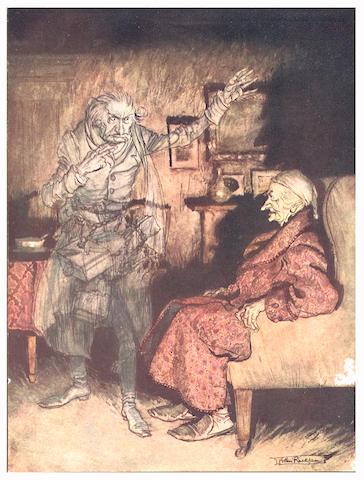 RACKHAM (ARTHUR) DICKENS (CHARLES) A Christmas Carol, NUMBER 136 OF 525 COPIES SIGNED BY RACKHAM, William Heinemann, [1915]
