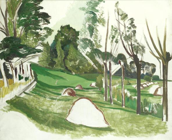 John Northcote Nash R.A. (British, 1893-1977) Landscape study with trees