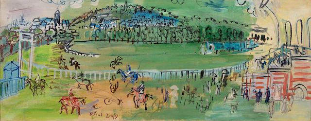 Raoul Dufy (1877-1953) Le champ de courses de Deauville (Painted in 1931)