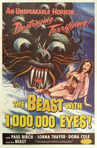 The Beast with 1,000,000 Eyes!  American Releasing Corp., 1955,
