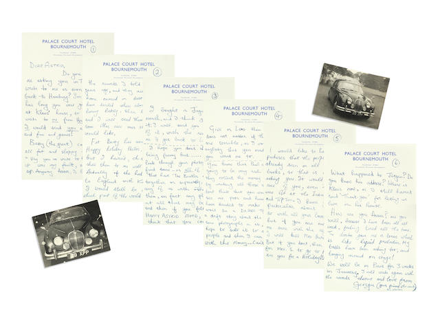 George Harrison: An important six-page letter from George to Astrid Kirchherr,  August 1963,
