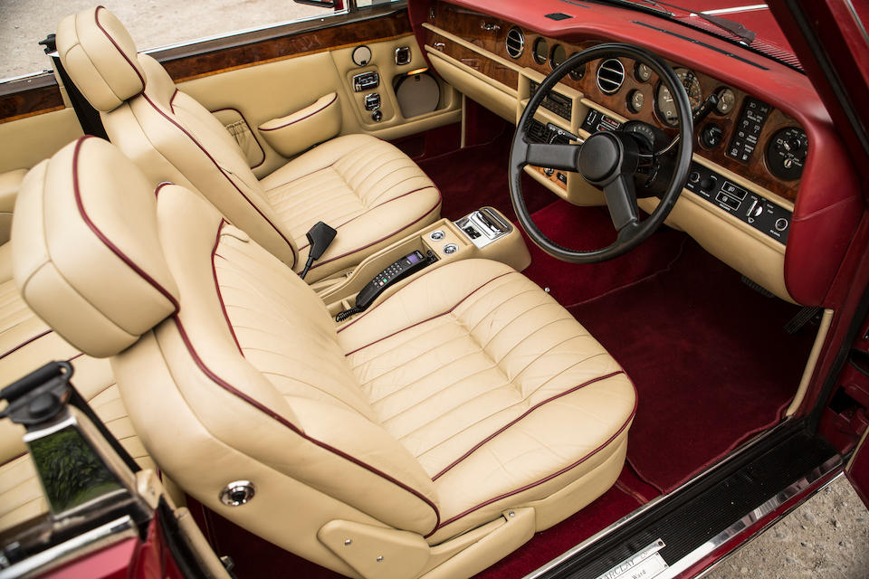 Delivered new to Sir Elton John and used in the video 'Nikita',1985 Bentley Continental Convertible  Chassis no. SCBZD0002FCH10168