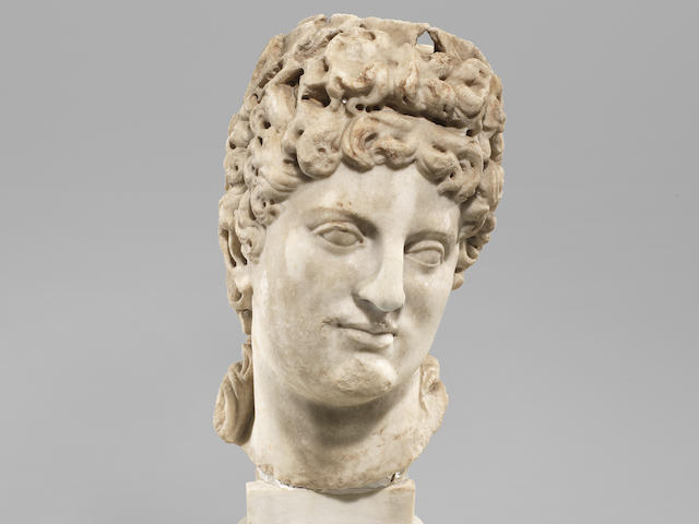 A Roman marble head of Apollo
