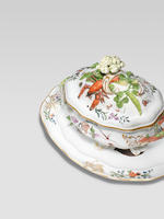 A large Meissen oval tureen and cover from the 'Brühlsche Allerlei' service, circa 1745-46