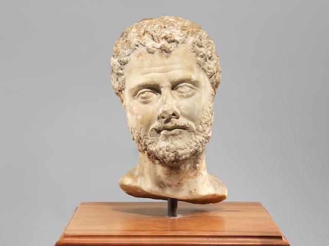 A Roman marble male portrait bust