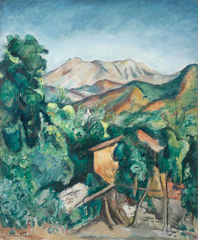 Achille Emile Othon Friesz (1879-1949) Paysage les Jars (Painted in the South of France circa 1920)