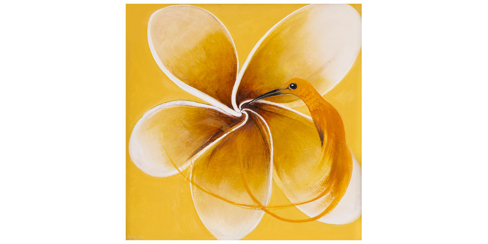 Brett Whiteley (1939-1992) Hummingbird and Frangipani, 1986