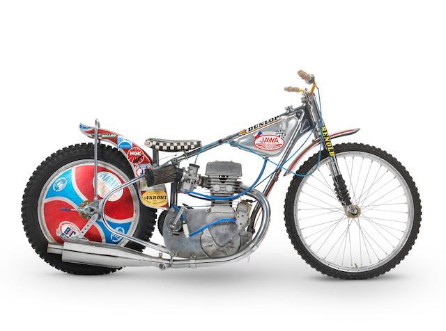 The ex-Ivan Mauger, 1977 World Speedway Championship Winning,1977 Jawa DOHC Speedway Racing Motorcycle Frame no. N-3197 Engine no. P500-153
