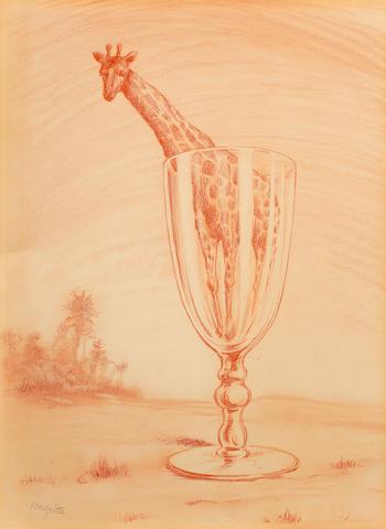 René Magritte (Belgian, 1898-1967) Le bain de cristal (Executed circa 1946 - 1949)