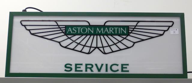 Bonhams An Aston Martin Service Illuminating Sign