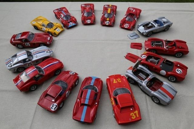 A selection of various prototype and racing Ferraris including P4, Testarossa, GTO and SWB