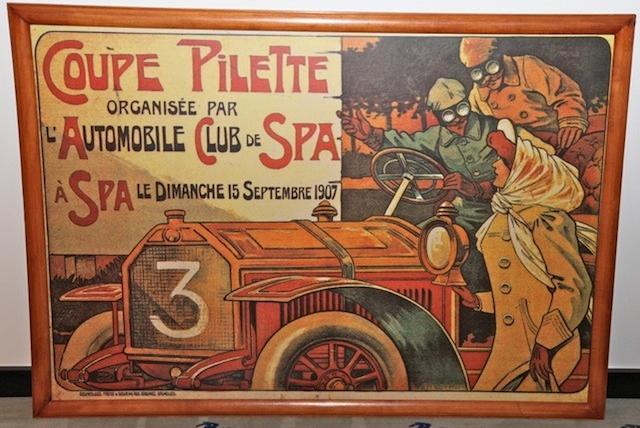 A reproduction print: Pilette 1907 Spa Framed 126 x 90cm – the print 118 x 82cm