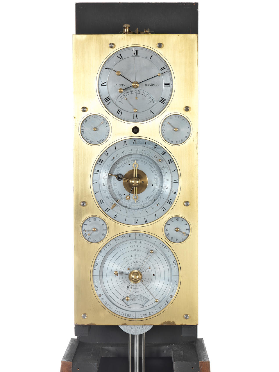 A Three Month Going Astronomical Longcase Timepiece by Jarvis, Hastings, 1984 Jarvis, Hastings, 1984