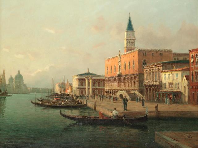 Antoine Bouvard (French, 1870-1956) La Riva Degli Schiavoni - Venice