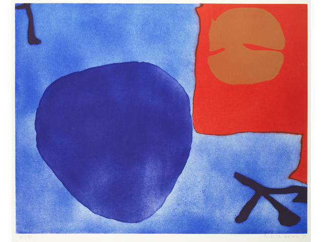 Patrick Heron (British, 1920-1999) Blue Day Disc Etching with aquatint in colours, 1979, signed, dated and numbered 16/50 in pencil, printed at Kelpra Studio, London, published by Waddington Gallery, London, with printer's and publisher's blindstamps, the full sheet, 685 x 910mm (27 x 35 7/8in)(SH)
