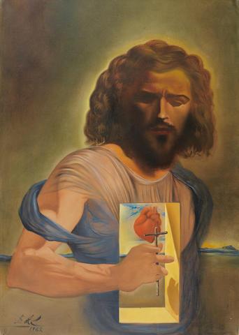 Salvador Dalí (1904-1989) Coeur-Sacré de Jésus (Painted in 1962)