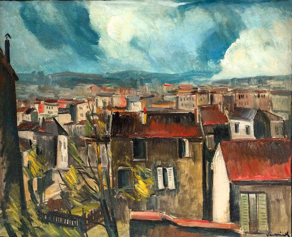 Maurice de Vlaminck (1876-1958) Les toits de Paris (Painted circa 1911)