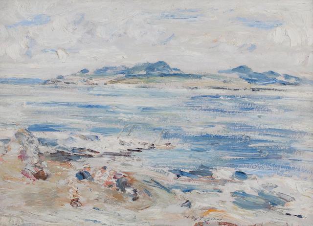 William McTaggart RSA RSW (British, 1835-1910) Summer at Machrihanish 24 x 32 cm. (9 7/16 x 12 5/8 in.)