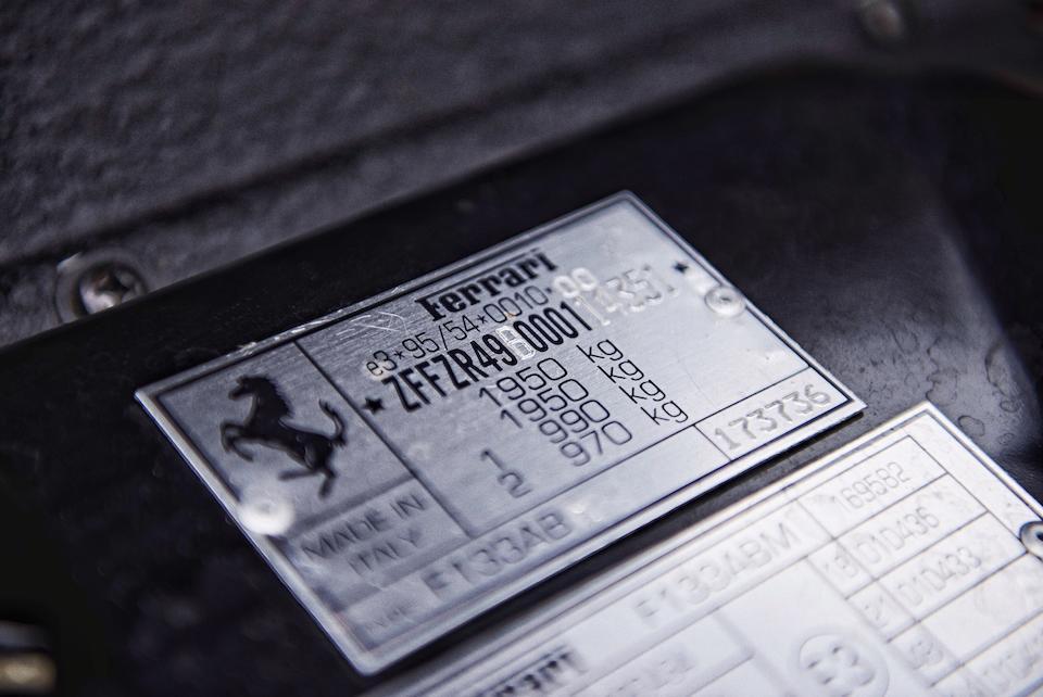 1999 Ferrari 550 Maranello Coupé  Chassis no. ZFFZR49B000114351