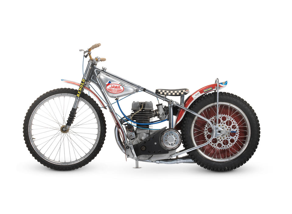 The 1977 Speedway World Championship Final-winning, 1977 Jawa DOHC Four-valve Speedway Racing Motorcycle Frame no. N-3197 Engine no. P500-153