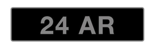 UK Vehicle Registration Number '24 AR',