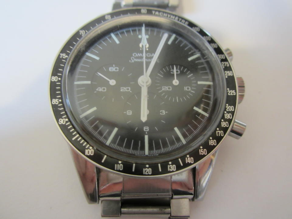 Omega. A stainless steel manual wind chronograph bracelet watch  Speedmaster 'Ed White', Ref: ST105.003-65, Circa 1965
