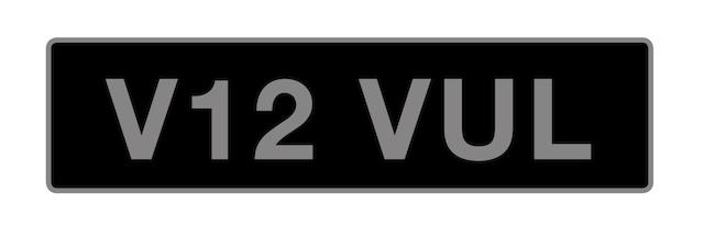 UK Vehicle registration number 'V12 VUL',