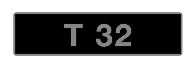 UK Vehicle registration number 'T 32',