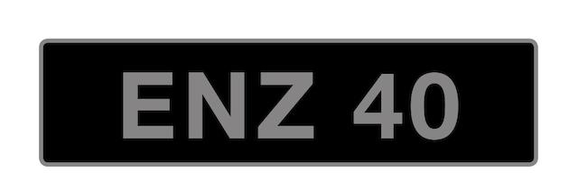 UK Vehicle registration number 'ENZ 40',