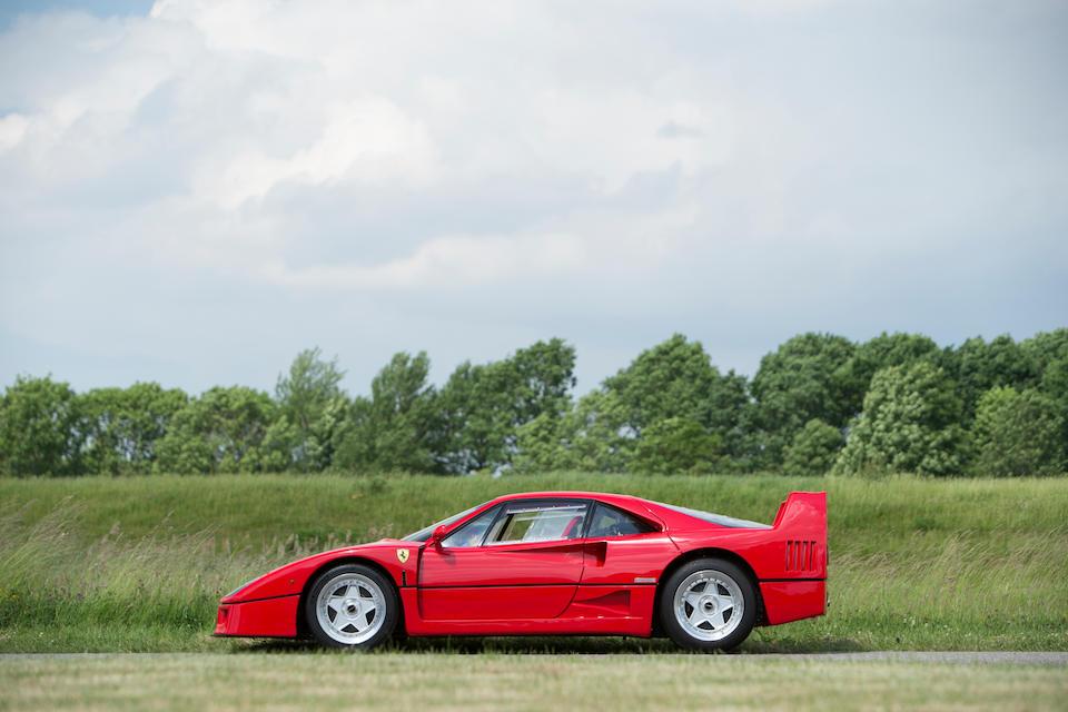 The ex David Gilmour,1988 Ferrari F40 Berlinetta  Chassis no. ZFFG734B000078036