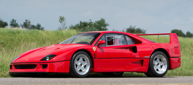 The ex David Gilmour,1988 Ferrari F40 Berlinetta  Chassis no. ZFFG734B000078036