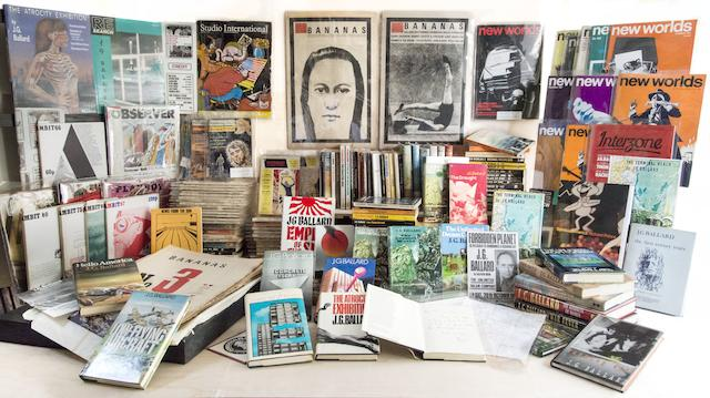 BALLARD (J.G.) An extensive collection of first edition novels, science fiction and pulp magazines, periodicals (and 2 autograph letters signed) by, with contributions from or edited by Ballard, of which SEVENTY-NINE SIGNED BY THE AUTHOR, [c.1960-1980] (approximately 145 items)