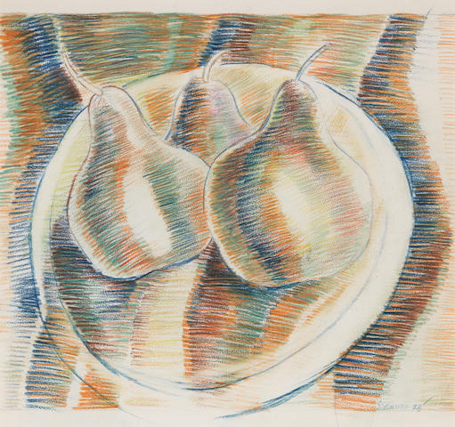 Gerard Sekoto (South African, 1913-1993) Still life of pears