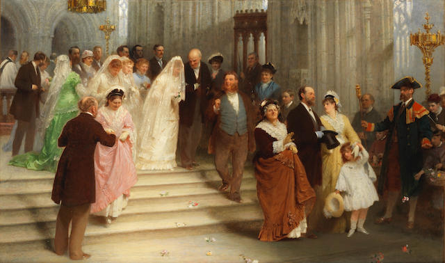 John Morgan, RBA (British, 1823-1886) Married for money