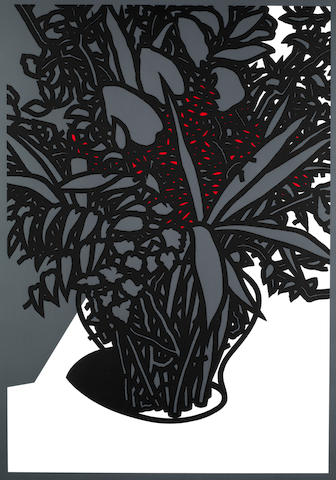 Patrick Caulfield (British, 1936-2005) For John Constable  Screenprint in colours, 1976, on wove, signed and numbered 36/100 in pencil, printed at Kelpra Studio, London, published by Waddington Graphics, London, 1025 x 770mm (40 2/5 x 30 2/5in)(SH)