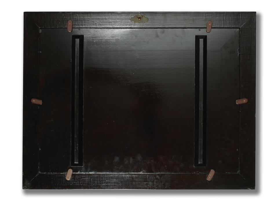SHIBATA ZESHIN 柴田是真 (1807–1891) PANEL WITH BELL CRICKETS, GRASSES, AND FULL MOON  秋の夜(満月芒鈴虫)蒔絵額 Meiji era (1868–1912), 1877
