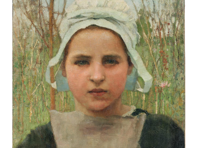 Sir George Clausen, RA, RWS (British, 1852-1944) Marie, a peasant girl of Quimperlé